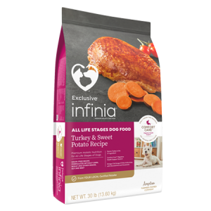 Infinia All Life Stages Turkey and Sweet Potato Dry Dog Food