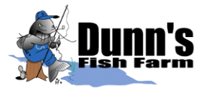 Dunn's Fish Farm logo for fish truck delivery