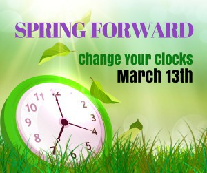 Spring Forward For Daylight Savings Time March 12