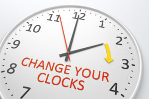 Daylight Saving Time begins on Sunday, March 14, 2021. Remember to set your clocks forward 1 hour before you head to bed.