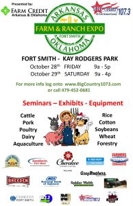 Arkansas and Oklahoma Farm & Ranch Expo October 27 and 28, 2017