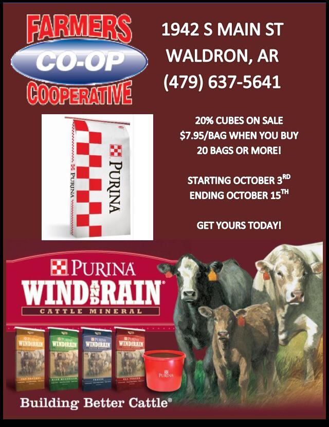 Save on Purina Cattle Cubes at Farmers in Waldron :: Farmers