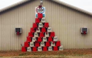 Farmer's Co-op's Christmas tree for the 2017 Christmas Tree Challenge