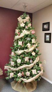 Farmer's Co-op Van Buren Warehouse's Christmas tree for the 2017 Christmas Tree Challenge