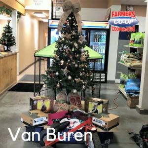 Christmas Tree Challenge at Farmers Coop Van Buren