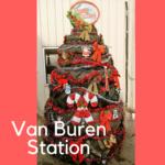 Christmas Tree Challenge at Farmers Coop Van Buren Service Station