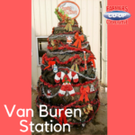 Christmas Tree Challenge at Farmer's Co-op Van Buren Station
