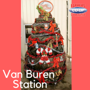 Christmas Tree Challenge at Farmer's Co-op Van Buren Station