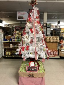 Secret Santa Angel Tree at Farmers Coop in Lincoln, Arkansas.