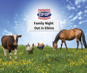 Family Night Out at Farmers Coop in Elkins, AR on Saturday, November 23, 2019.