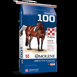 Purina Omolene 100 Active Pleasure Horse Blue Feed Bag