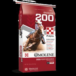 Purina Omolene 200 Performance Horse Feed Red Bag