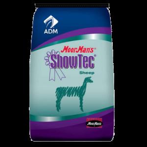 MoorMan's ShowTec 18 Elite Lamb. Blue and teal feed bag.