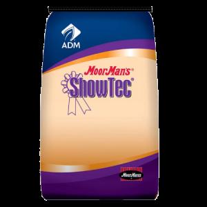 MoorMan's ShowTec Sale Burst. Blue and orange feed bag. Show feed.