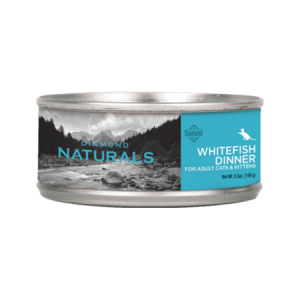 Diamond Naturals Whitefish Dinner Adult & Kitten Canned Cat Food. Blue label.