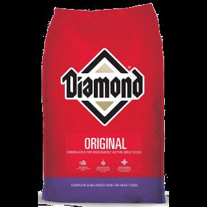 Diamond Original Dry Dog Food in red 50-lb bag..