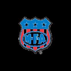 MFA Goat DCX Shield Pellet. Red, white and blue brand logo.