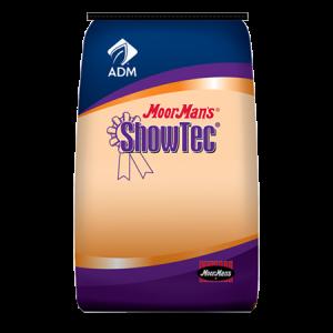 ADM MoorMan's ShowTec Burst Starter. Blue and orange feed bag for swine.