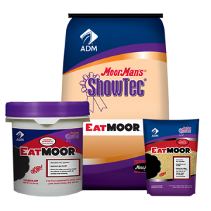 MoorMan's ShowTec EatMoor. Show feed bag, pail and pouch.