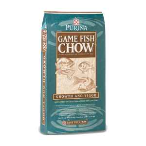 Purina Game Fish Chow in green bag