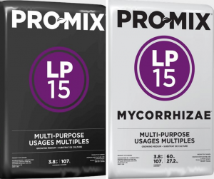 Pro-Mix LP15 and LP 15 MYCORRHIZAE are available at Farmer's Co-op locations in Elkins, Decatur, Lincoln, Prairie Grove, and Springdale, Arkansas.